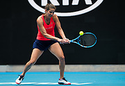 Julia Goerges of Germany in action during her second round match at the 2020 Australian Open, WTA Grand Slam tennis tournament on January 22, 2020 at Melbourne Park in Melbourne, Australia - Photo Rob Prange / Spain ProSportsImages / DPPI / ProSportsImages / DPPI