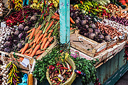 Fresh produce at a vendor stall, Rijeka, Croatia