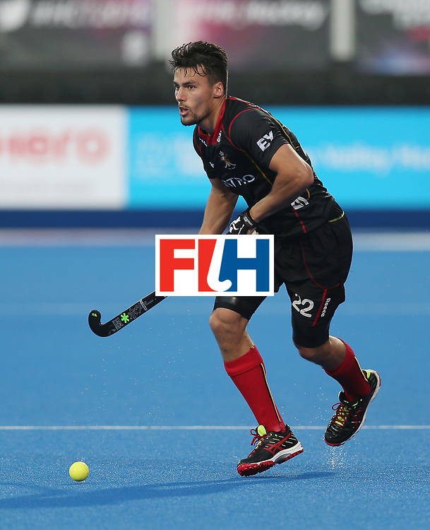 LONDON, ENGLAND - JUNE 16: Simon Gougnard of Belgium during the FIH Mens Hero Hockey Champions Trophy match between Great Britain and Belgium at Queen Elizabeth Olympic Park on June 16, 2016 in London, England.  (Photo by Alex Morton/Getty Images)