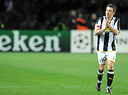 "Alessandro Del Piero applauds the fans.Torino 10/3/2009 Stadio ""Olimpico"".Champions League ""2008/2009"".Juventus Chelsea."