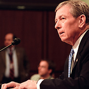 Attorney-General John Ashcroft at 9/11 Commission Hearing 10.Hart Senate Office Building Rm 216