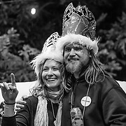 The Queen - Caite Zeliff (L) and King - Karl Fostvedt (R) of Corbet's celebrate.