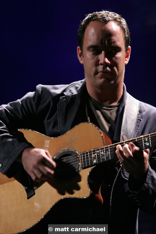 TINLEY PARK, IL - SEPTEMBER 18: Farm Aid board member Dave Matthews performs live at the 20th Anniversary Farm Aid concert benefiting the family farmers affected by Hurricane Katrina September 18, 2005 at The Tweeter Center Chicago, in Tinley Park, Illinois. (Photo by Matt Carmichael)