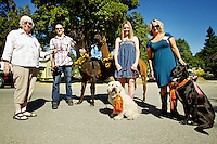 The Jaegers with their animals after the Labor Day parade held Monday, Sept. 5, 2011 in Spirit Lake, Idaho.