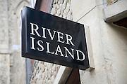 River Island shop sign, Colchester, Essex