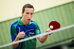 Luka Trtnik, Slovenian disabled Table Tennis athlete at practice session, on August 14, 2017 in SD Partizan, Menges, Slovenia. Photo by Vid Ponikvar / Sportida