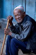 Old man, Kathmandu, Nepal