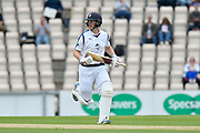 Jimmy Adams of Hampshire running between the wickets while batting during the Specsavers County Champ Div 1 match between Hampshire County Cricket Club and Yorkshire County Cricket Club at the Ageas Bowl, Southampton, United Kingdom on 21 April 2017. Photo by Graham Hunt.
