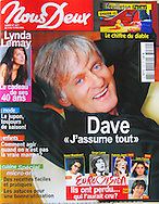 """Nous Deux"" Magazine Cover of Singer Dave by Tony Barson"