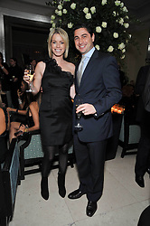 CEM & CAROLINE HABIB at a dinner in honour of Dennis Basso in celebration of his new boutique in Harrods held at Claridge's, Brook Street, London on 15th October 2009.