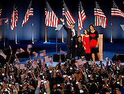 Chicago, Illinois, USA, 20081105:   Presidential Candidate Barack Obama holds his acceptance speech on Hutchinson Field in Grant Park in Chicago, after being elected the next President of the United States<br /> <br /> Photo: Orjan F. Ellingvag/ Dagbladet/ Getty