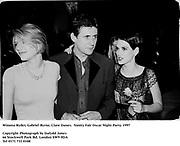 Winona Ryder, Gabriel Byrne, Clare Danes.  Vanity Fair Oscar Night Party. 1997<br />Photograph by Dafydd Jones<br />66 Stockwell Park Rd. London SW9 0DA<br />Tel 0171 733 0108