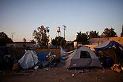 A homeless encampment in Fresno, Calif., September 24, 2012.