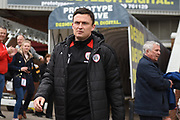 Barnsley manager Paul Heckingbottom during the EFL Sky Bet Championship match between Barnsley and Burton Albion at Oakwell, Barnsley, England on 29 April 2017. Photo by Richard Holmes.