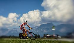 28.08.2016, Zell am See Kaprun, AUT, IRONMAN 70.3 Salzburg, im Bild Lukas Hollaus (AUT) mit einem Tilt & Shift Objektiv aufgenommen // Lukas Hollaus (AUT) taken with a Tilt & Shift Lens during IRONMAN 70.3, Salzburg at Zell am See- Kaprun, Austria on 2016/08/28. EXPA Pictures © 2016, PhotoCredit: EXPA/ JFK
