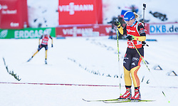09.12.2012, Biathlonarena, Hochfilzen, AUT, E.ON IBU Weltcup, Staffel, Damen, im Bild Nadine HORCHLER (GER) wartet auf Miriam GÖSSNER (GER) during Womens Relay of E.ON IBU Biathlon World Cup at the Biathlonstadium in Hochfilzen, Austria on 2012/12/09. EXPA Pictures © 2012, PhotoCredit: EXPA/ Juergen Feichter