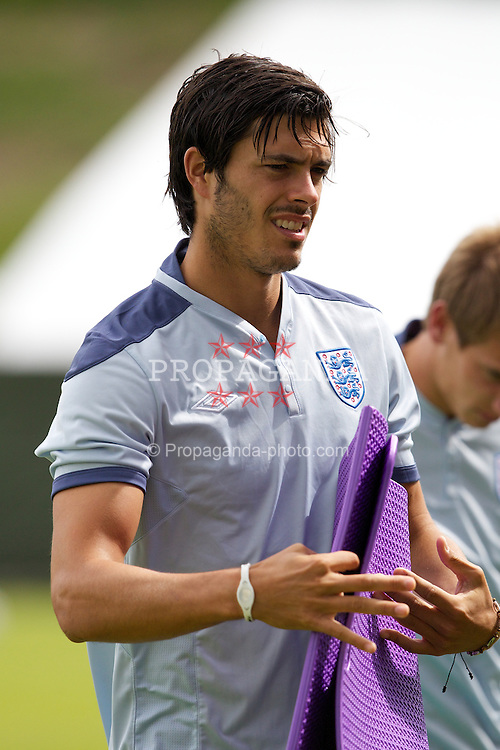 FREDERICIA, DENMARK - Tuesday, June 14, 2011: England's James Tomkins (West Ham United FC) during training at the Fredericia Stadium ahead of the UEFA Under-21 Championship Denmark 2011 Group B match against Ukraine. (Photo by Vegard Grott/Propaganda)