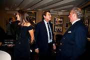 BRYAN FERRY; GRAYDON CARTER, Graydon Carter hosts a dinner to celebrate the reopening og the American Bar at the Savoy.  Savoy Hotel, Strand. London. 28 October 2010. -DO NOT ARCHIVE-© Copyright Photograph by Dafydd Jones. 248 Clapham Rd. London SW9 0PZ. Tel 0207 820 0771. www.dafjones.com.