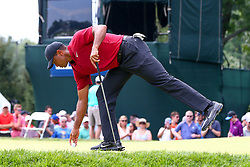August 26, 2018 - Paramus, NJ, U.S. - PARAMUS, NJ - AUGUST 26:  Tiger Woods of the United States on the 16th green  during the final round of The Northern Trust on August 26, 2018 at the Ridgewood Championship Course in Ridgewood, New Jersey. (Photo by Rich Graessle/Icon Sportswire) (Credit Image: © Rich Graessle/Icon SMI via ZUMA Press)