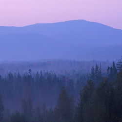 Island Pond, VT.Dawn in the Nulhegan River valley.  Northeast Kingdom.  Northern Forest.
