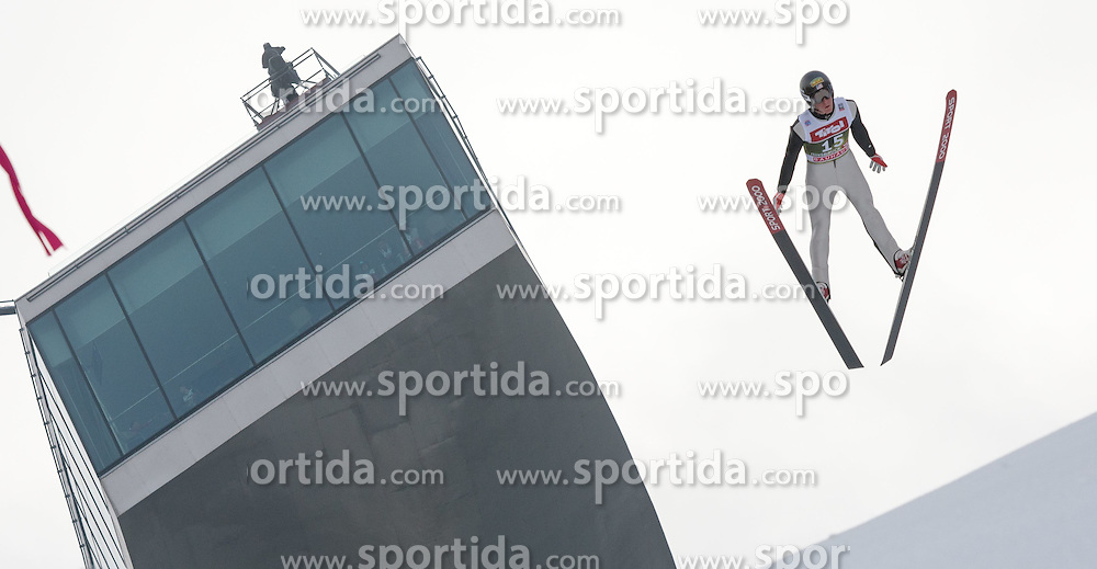 03.01.2015, Bergisel Schanze, Innsbruck, AUT, FIS Ski Sprung Weltcup, 63. Vierschanzentournee, Innsbruck, Training, im Bild Nicholas Fairall (USA) // Nicholas Fairall of United States soars through the air during a training session for the 63rd Four Hills Tournament of FIS Ski Jumping World Cup at the Bergisel Schanze in Innsbruck, Austria on 2015/01/03. EXPA Pictures © 2015, PhotoCredit: EXPA/ Jakob Gruber