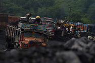 labourers dig coal from the ground in Chitra coal mine Jharkhand, India Wednesday, Oct. 10, 2012 (Photo/Elizabeth Dalziel for Christian Aid)