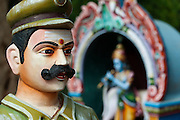 Detail from a large roadside shrine near Neyveli, South India. Tamil Nadu.