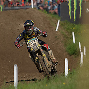 American Thomas Covington shows his unique riding style on track at Matterley Basin.