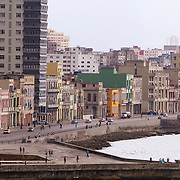 Overcrowded buildings, mostly in disrepair is home to a lot of Cubans in Havana. Some buildings are improved as the economic situation improves. <br />
