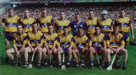 All Ireland Senior Hurling Championship - Final, .14.09.1997, 09.14.1997, 14th September 1997, .14091997AISHCF,.Senior Clare v Tipperary .Tipperary 2-16, Wexford 0-15,.Minor Clare v Galway, ..Pat O' Donnell and Co, LTD, ..Clare Senior Team, back row from left, Brian Lohan, Michael O'Halloran, Frank Lohan, Colin Lynch, David Fitzgerald, Conor Clancy, Ger O'Loughlin, Sean McMahon, .Front row from left, Liam Doyle, Ollie Baker, Anthony Daly, James O'Connor, PJ O'Connell,