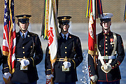 American servicemen at The National World War II Memorial, Washington DC, United States of America