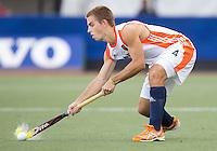 DEN BOSCH -   Tristan Algera tijdens de wedstrijd tussen de mannen van Jong Oranje  en Jong Engeland, tijdens het Europees Kampioenschap Hockey -21. ANP KOEN SUYK