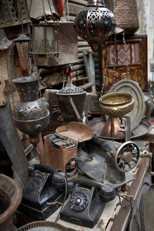 Junk for sale at the Khan-alKhalili Bazaar in Cairo, Egypt