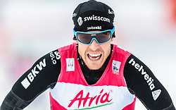 21.02.2016, Salpausselkae Stadion, Lahti, FIN, FIS Weltcup Nordische Kombination, Lahti, Langlauf, im Bild Tim Hug (SUI) // Tim Hug of Switzerland reacts during Cross Country Gundersen Race of FIS Nordic Combined World Cup, Lahti Ski Games at the Salpausselkae Stadium in Lahti, Finland on 2016/02/21. EXPA Pictures © 2016, PhotoCredit: EXPA/ JFK