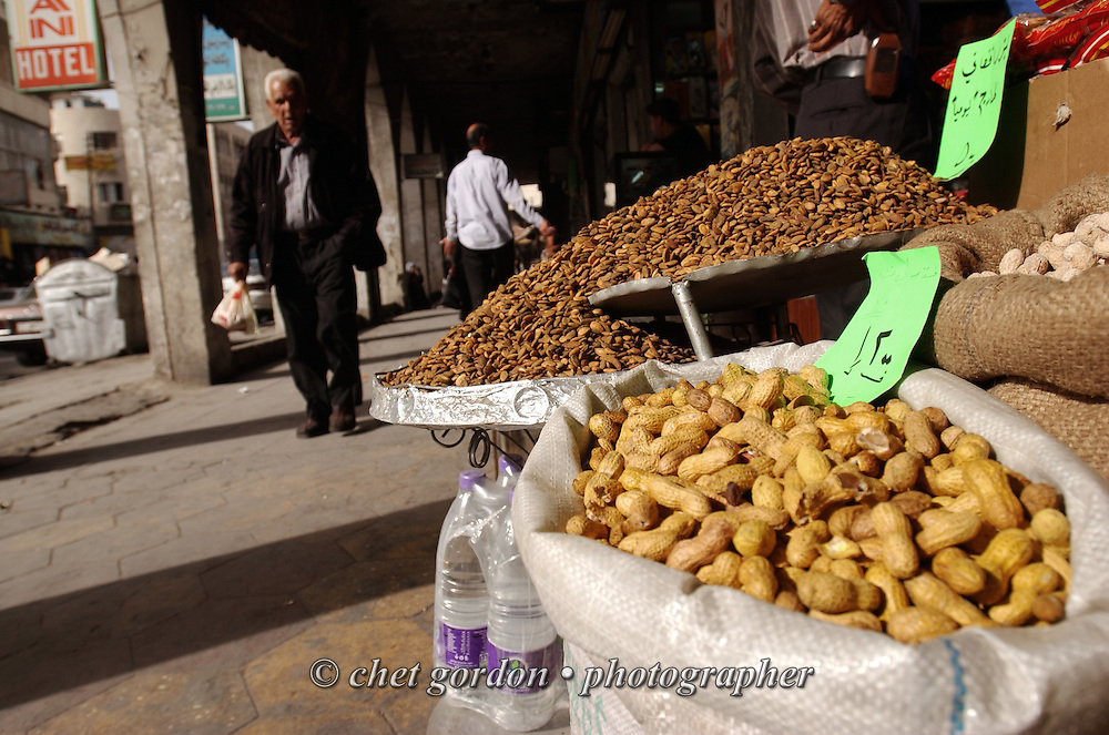 Peanuts and other items for sale in Amman, Jordan on Thursday, April 20, 2006.