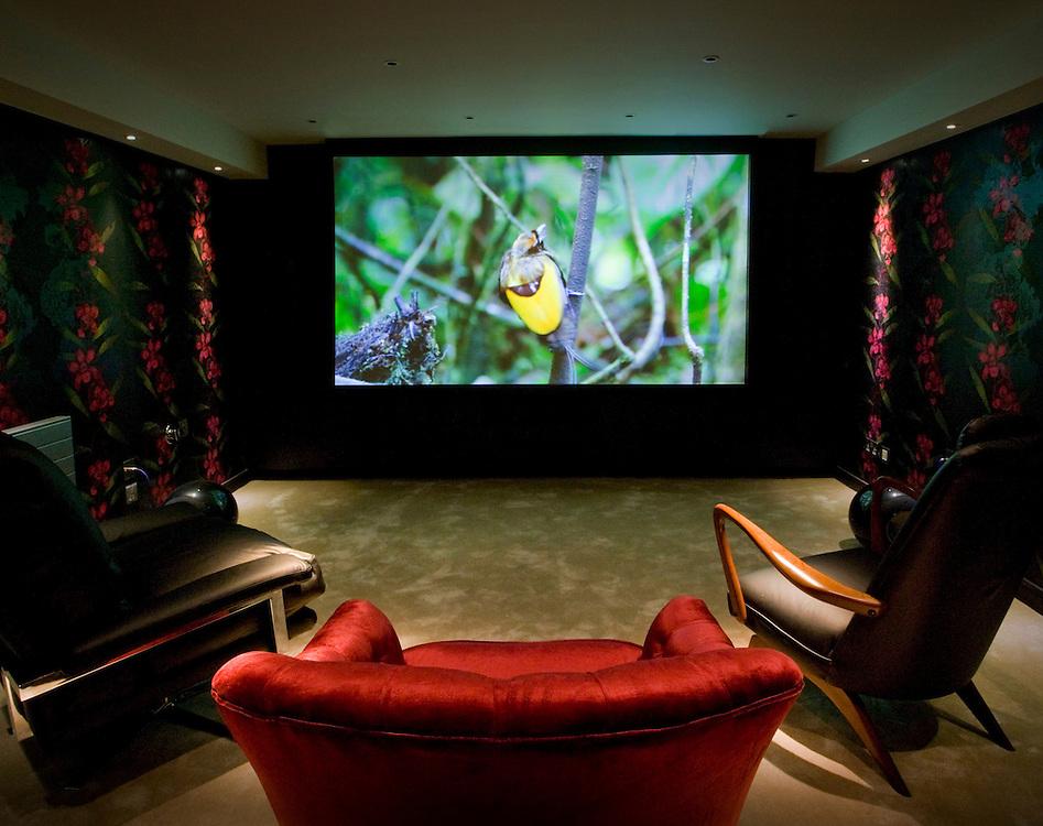 Home cinema system in London basement