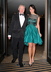 X Factor judges Louis Walsh and Tulisa Contostavlos head to The Pride Of Britain Awards in London, UK. 29/10/2012<br />BYLINE MUST READ : JAMESY/GOTCHA IMAGES<br /><br />Copyright by © Gotcha Images Ltd. All rights reserved.<br />Usage of this image is conditional upon the acceptance <br />of Gotcha Images Ltd, terms and conditions available at<br />www.gotchaimages.com