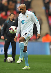 VINCENT KOMPANY MANCHESTER CITY, VINCENT KOMPANY MANCHESTER CITY, Liverpool v Manchester City Capital One Cup Final, Wembley Stadium, Sunday 28th Febuary 2016,