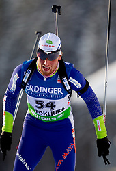 Klemen Bauer of Slovenia during the Men 10 km Sprint of the e.on IBU Biathlon World Cup on Saturday, December 18, 2010 in Pokljuka, Slovenia. The fourth e.on IBU World Cup stage is taking place in Rudno polje - Pokljuka, Slovenia until Sunday December 19, 2010. (Photo By Vid Ponikvar / Sportida.com)