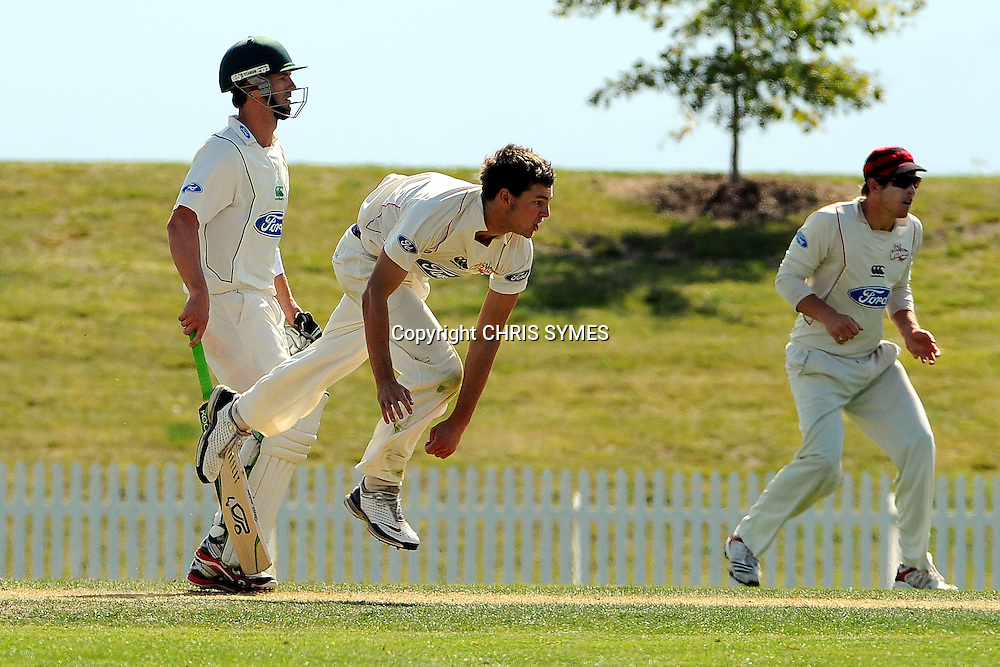 Wizards Ryan McCone during Day two of the Plunket Shield cricket - Canterbury Wizards v Central Stags at Saxton Oval, Nelson, New Zealand. Saturday 10 March 2012. Photo: Chris Symes/www.photosport.co.nz