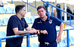 Bristol Rovers manager Darrell Clarke chats with Wael Al-Qadi president of Bristol Rovers FC - Mandatory by-line: Robbie Stephenson/JMP - 18/07/2017 - FOOTBALL - Estadio da Nora - Albufeira,  - Hull City v Bristol Rovers - Pre-season friendly