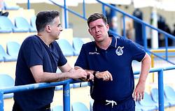 Bristol Rovers manager Darrell Clarke chats with Wael Al-Qadi president of Bristol Rovers FC - Mandatory by-line: Robbie Stephenson/JMP - 18/07/2017 - FOOTBALL - Estadio da Nora - Albufeira,  - Hull City v Bristol Rovers - Pre-season friendly