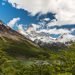 Fitzroy seen from the side of Lago Madre, Parque Nacional los Glaciers, Argentina.
