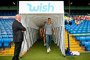 Leeds United defender Ben White (5), on loan from Brighton & Hove Albion, arriving during the EFL Cup match between Leeds United and Stoke City at Elland Road, Leeds, England on 27 August 2019.
