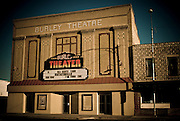 Idaho, Cassia County, Burley. Downtown theater.