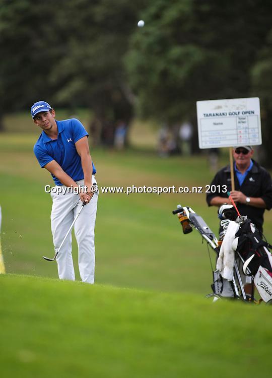 Luke Toomey on the final day of the Taranaki Energy Open, New Plymouth Golf Club, New Zealand. Sunday 14 April, 2013. Photo: John Cowpland / photosport.co.nz