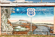 Historic Route 66, Tucumcari, New Mexico, mural