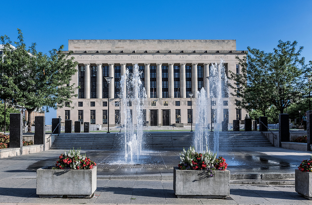 Davidson County City Hall and Court House, Nashville, Tennessee, USA.