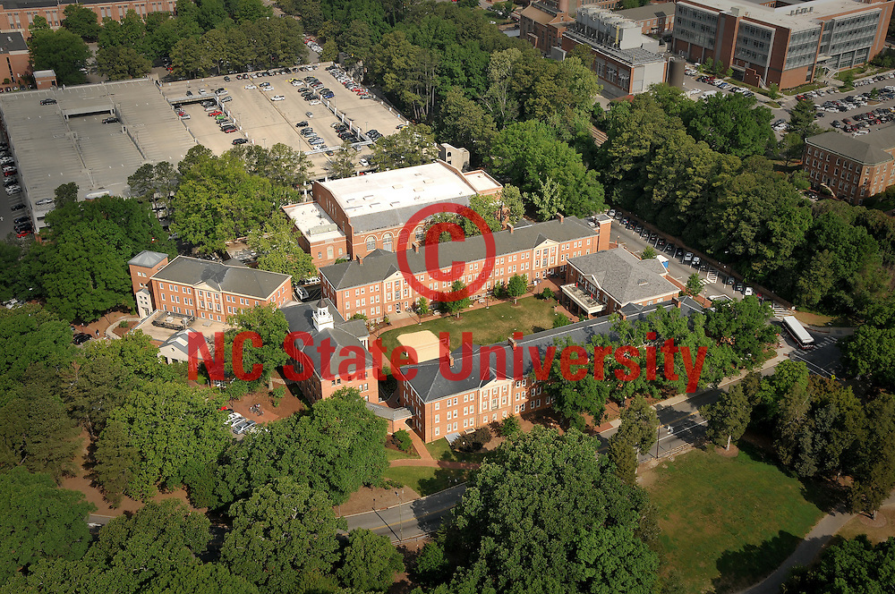Aerial view if Clark Hall and Honors Quad.
