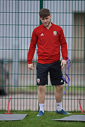 NEWPORT, WALES - Thursday, March 21, 2019: Wales' tom Price during an Under-21 training session at Dragon Park. (Pic by David Rawcliffe/Propaganda)